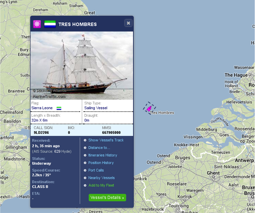 Tres Hombres location 20 jyly 2014