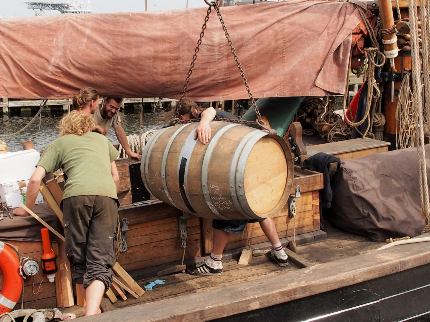 Tres Hombres Rum loaded aboard of Nordlys