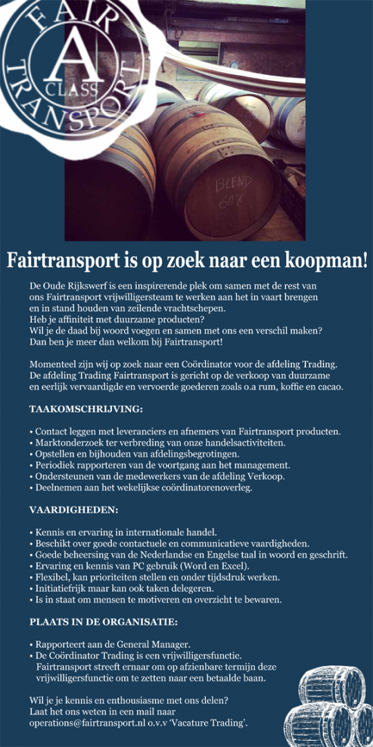 vacature trading